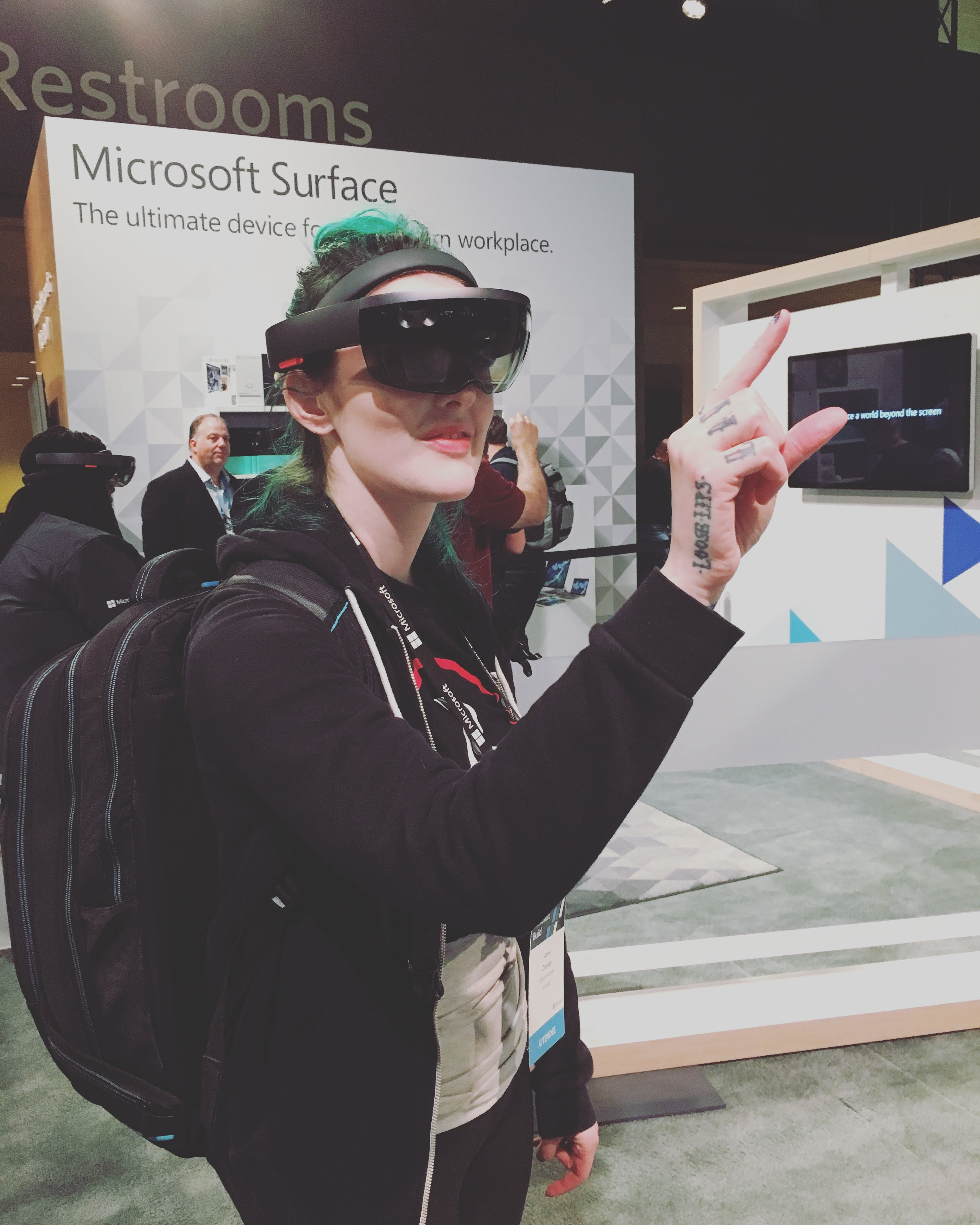 Game dev AmieDD at Microsoft Build HoloLens