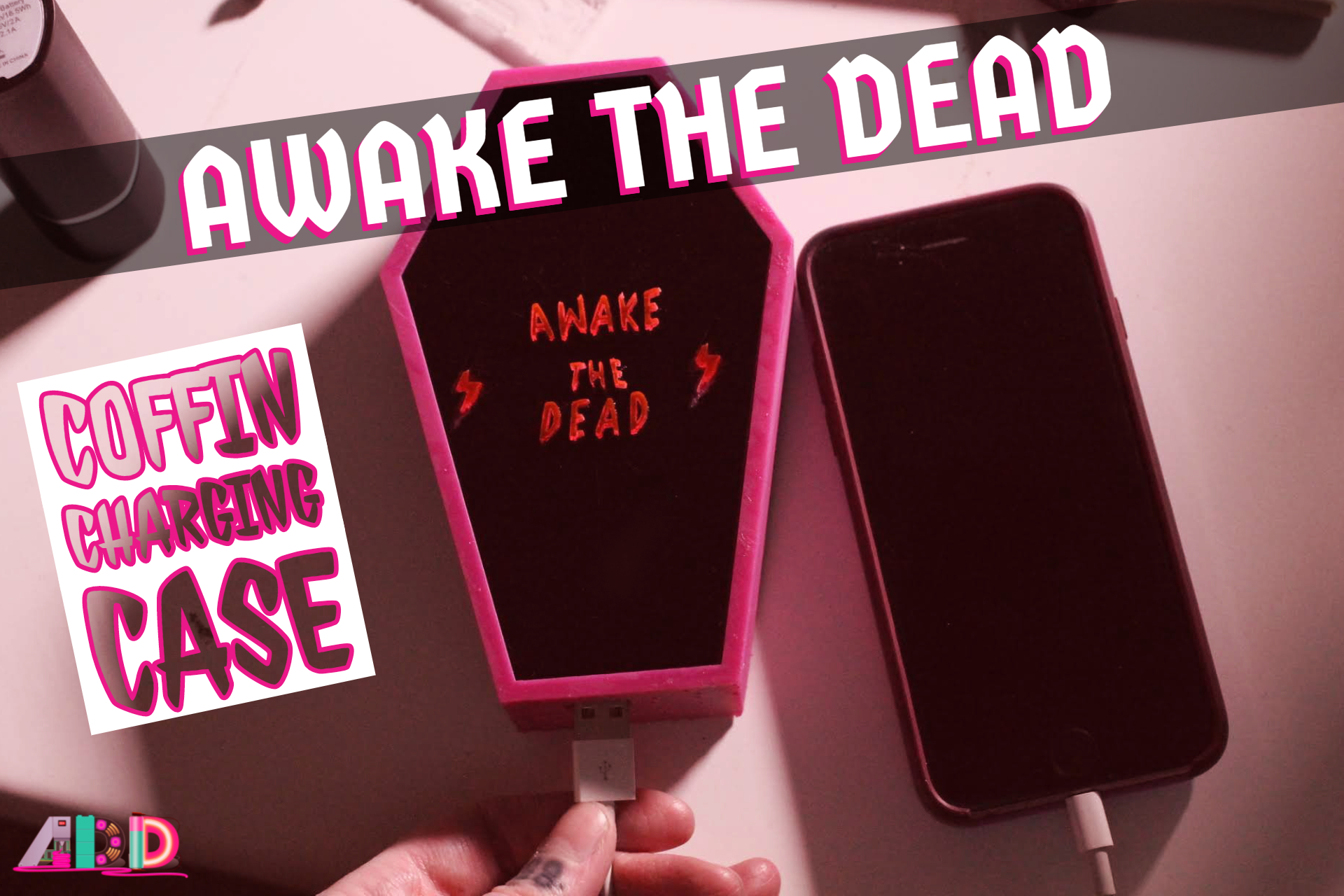 Awake the Dead 3D Printed Coffin Charger Case