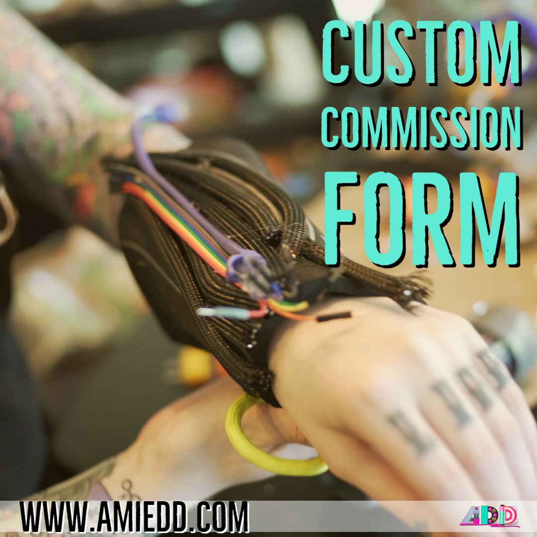 AmieDD Custom Commission Form Cosplay 3D Printing and Electronics