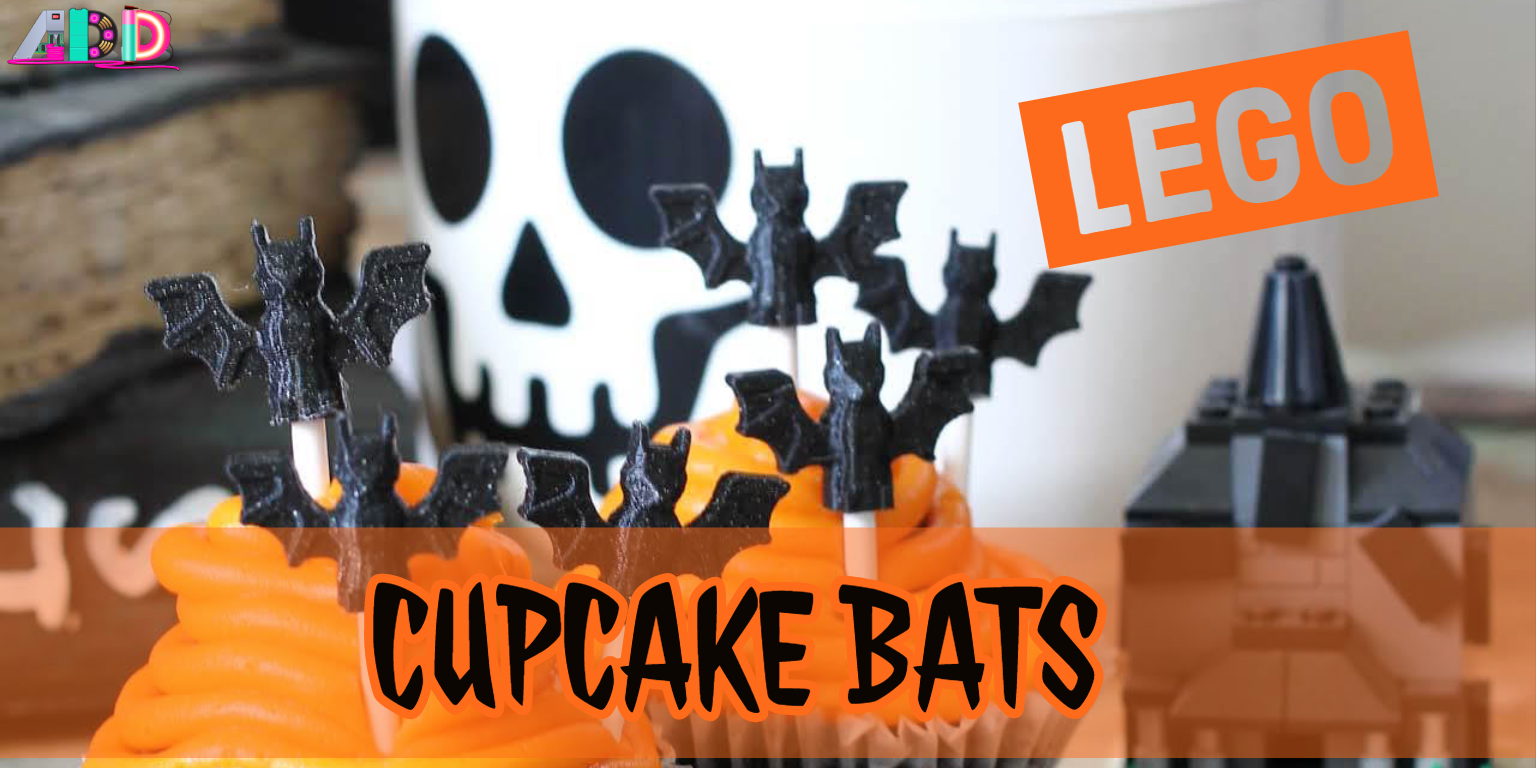LEGO Bat Cupcake Halloween