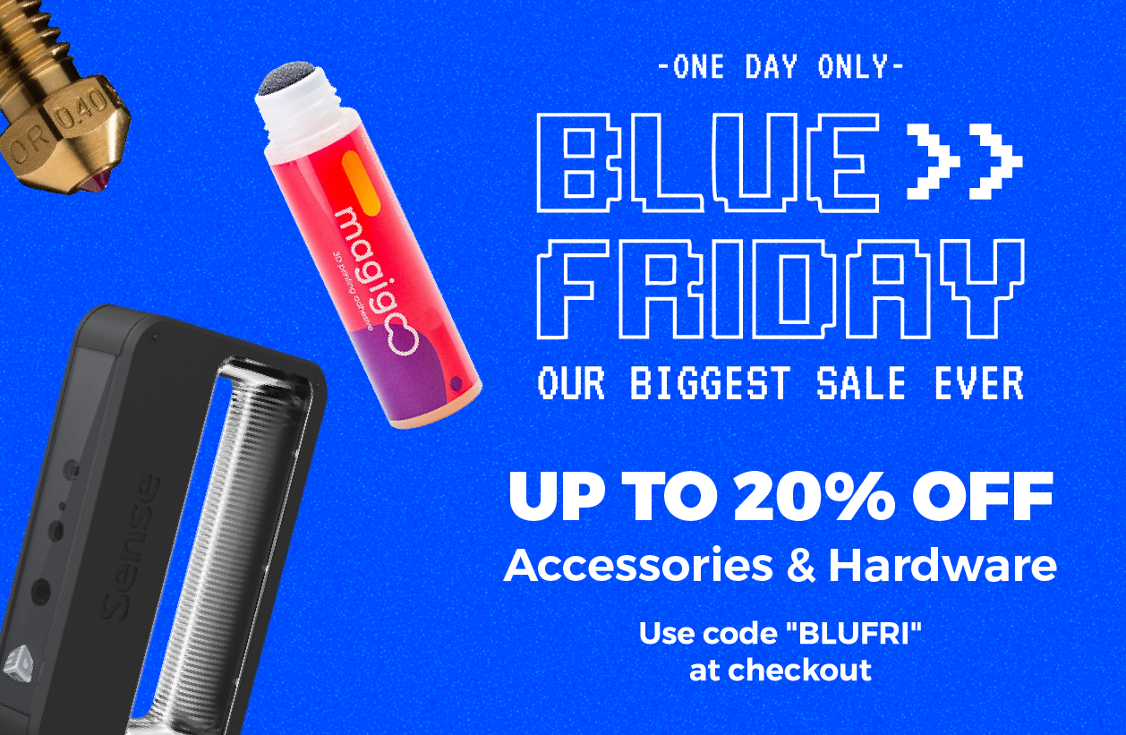 Blue Friday 3D Printing Sale Matterhackers AmieDD