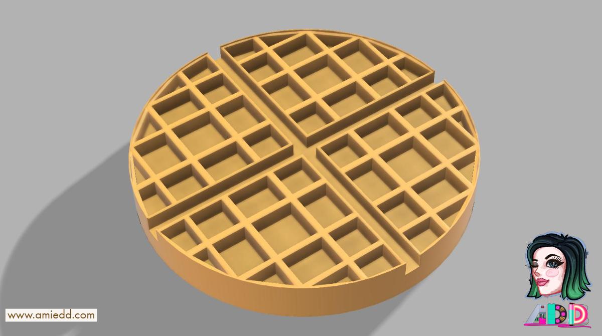 ERRF2018 3D Printed Waffle #AmieDD