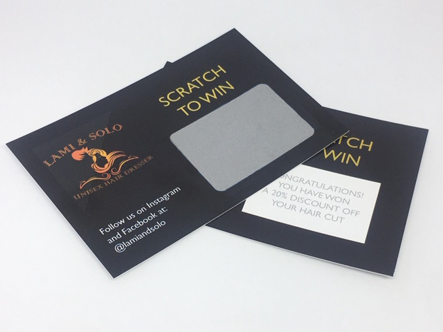 In-store Promotional Scratch Card Printing