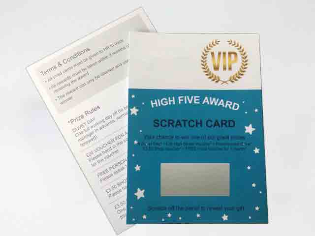 Employee Incentive Custom Scratch Cards