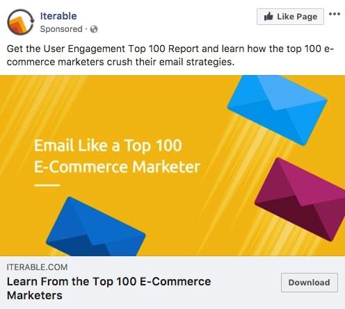 Iterable - Les exemples de publicité Facebook B2B & B2C