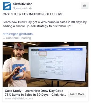 SixthDivision - Les exemples de publicité Facebook B2B & B2C