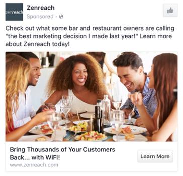 Zenreach - Les exemples de publicité Facebook B2B & B2C