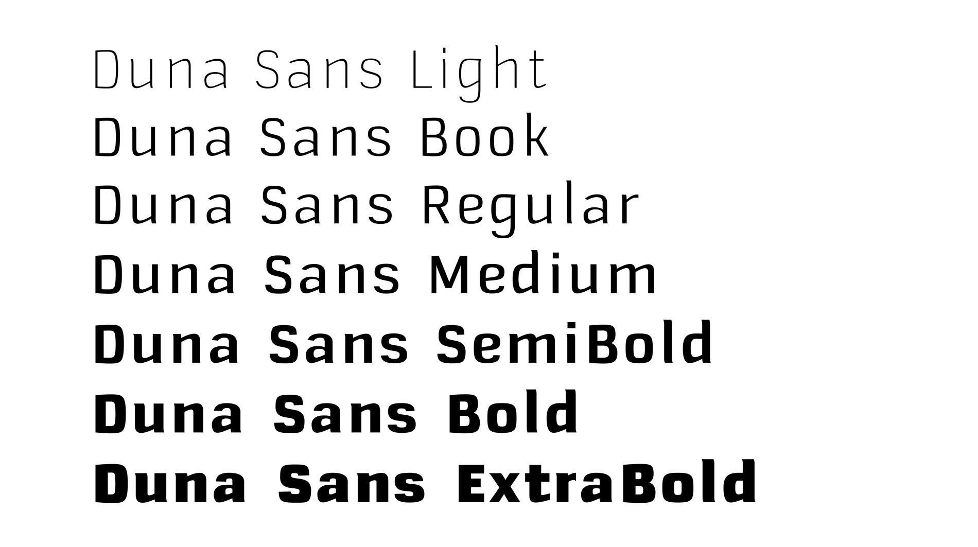 Godspeed | Schnitte der eigens entwickelten Textschrift Duna Sans