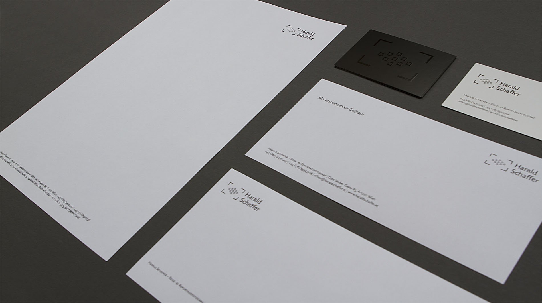 CD Harald Schaffer | Geschäftspapiere