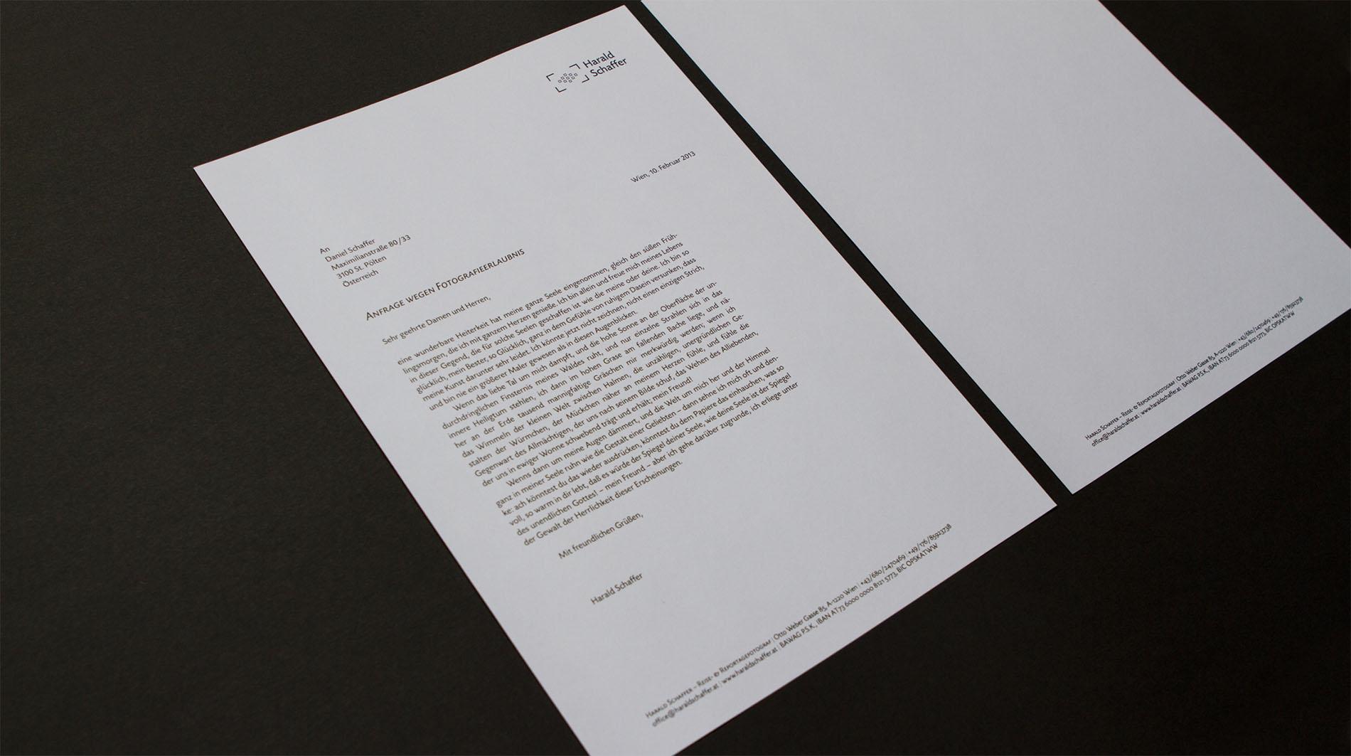 CD Harald Schaffer   Briefpapier