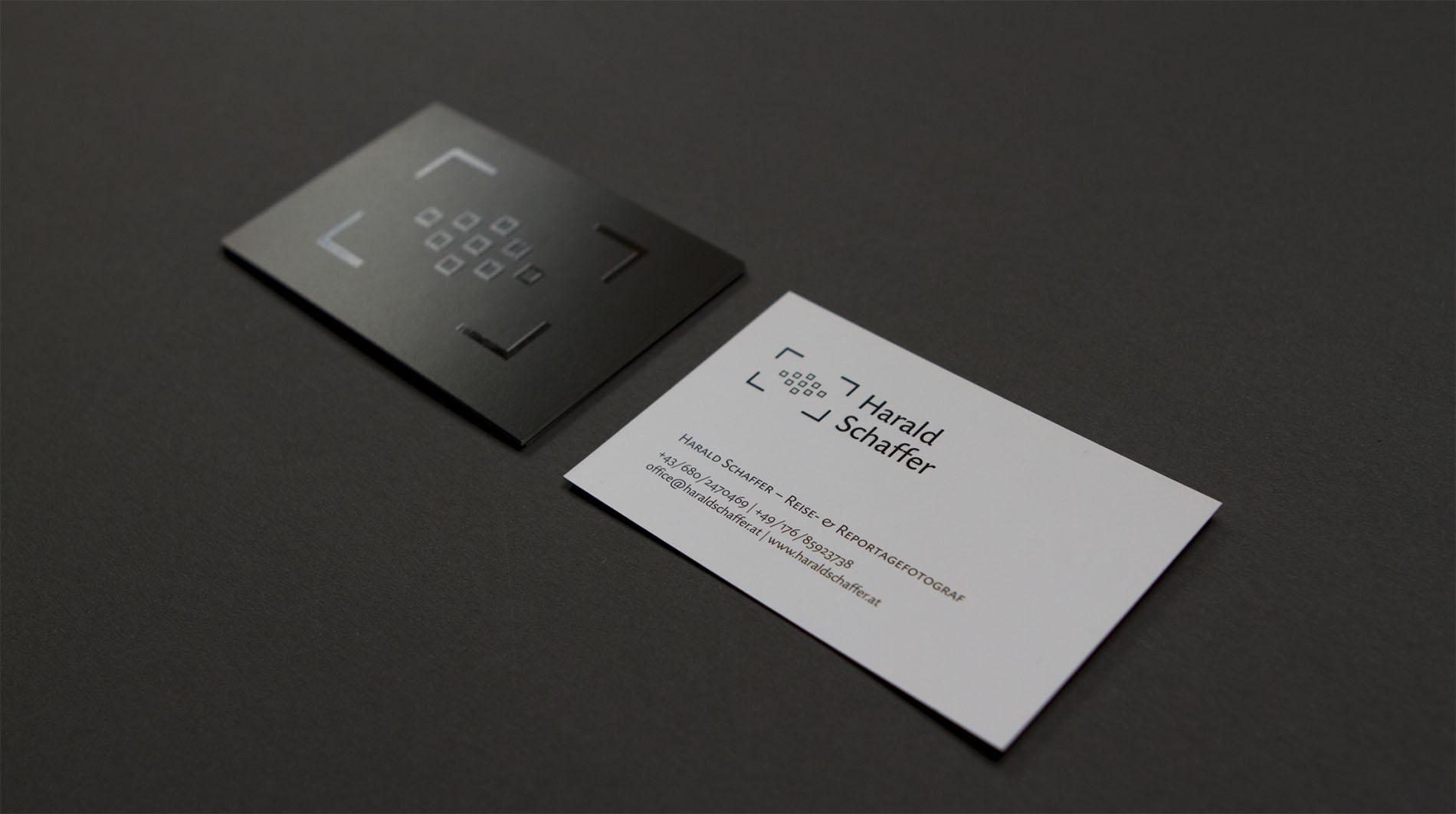 CD Harald Schaffer | Visitenkarte