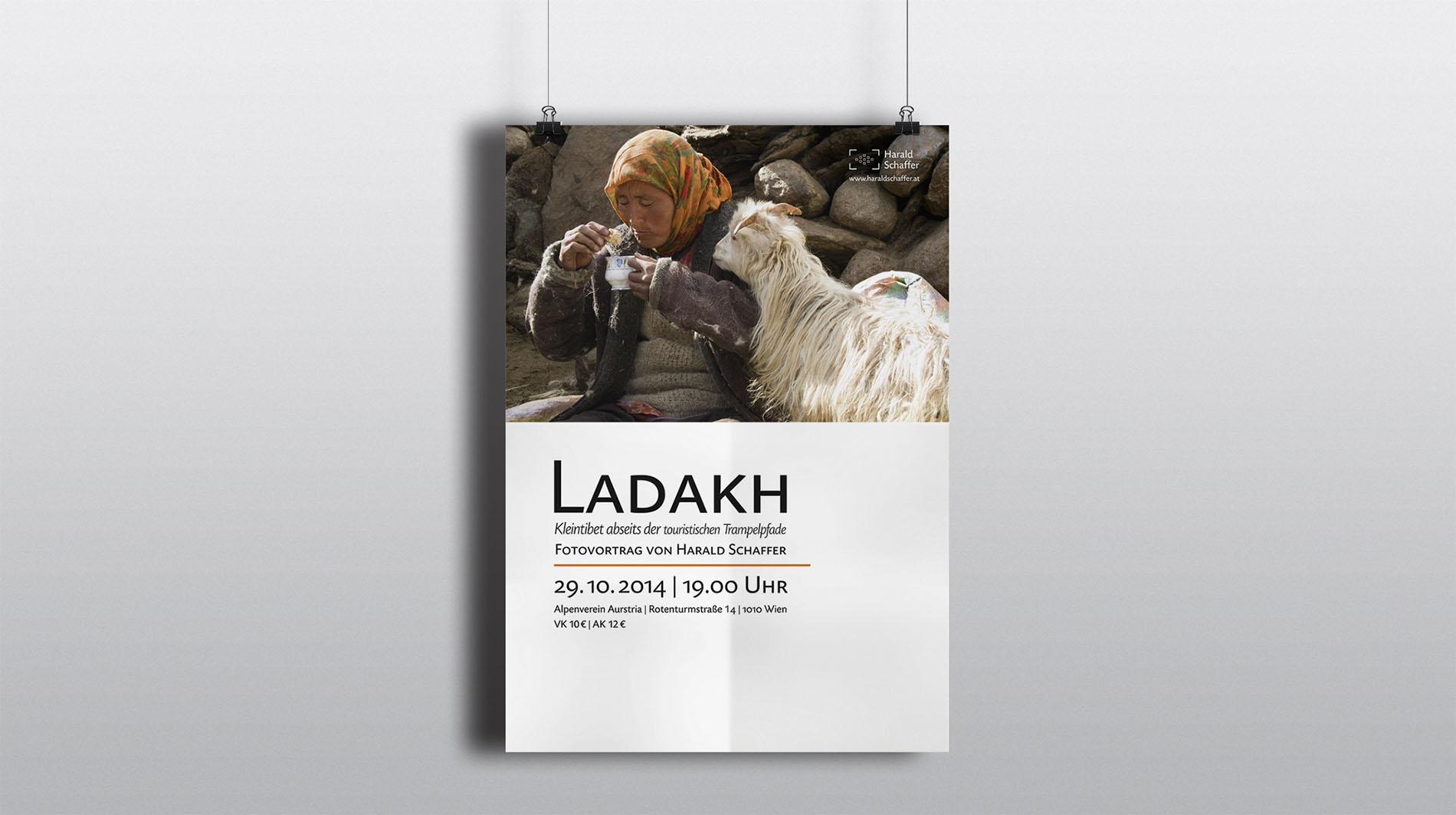 CD Harald Schaffer | Vortragsplakat Ladakh