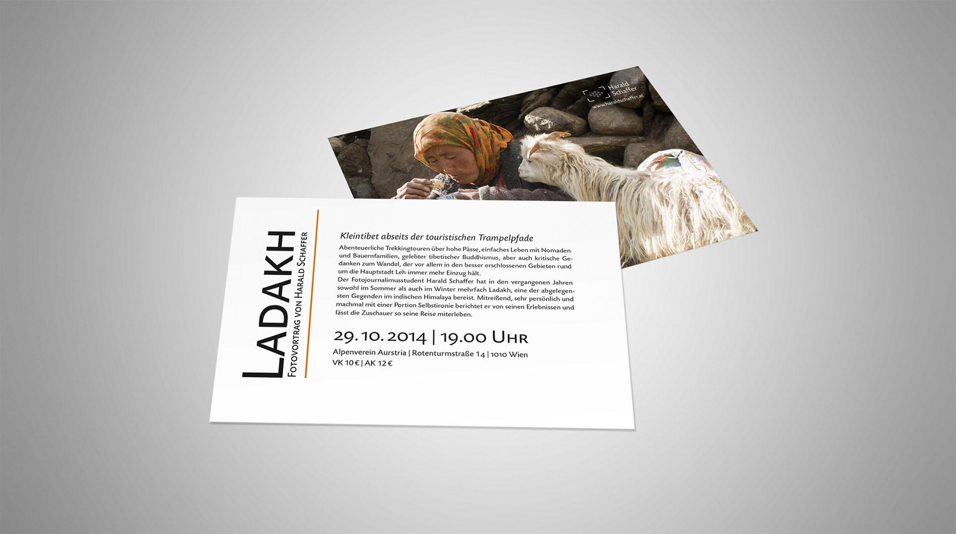 CD Harald Schaffer | Flyer zum Vortrag Ladakh