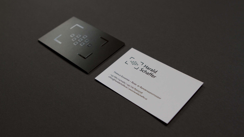 Harald Schaffer: Visitenkarten veredelt mit UV-Lack