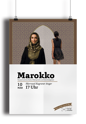 Vortragsplakat Marokko