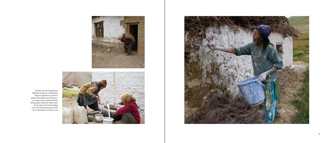 Bildband Ladakh: Seite mit drei Bildern