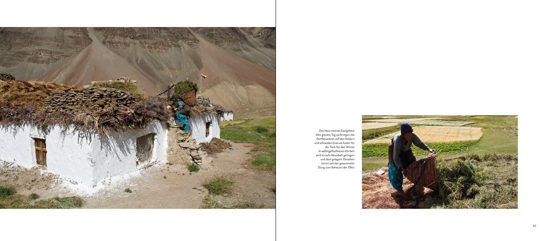 Bildband Ladakh: Seite mit zwei Bildern