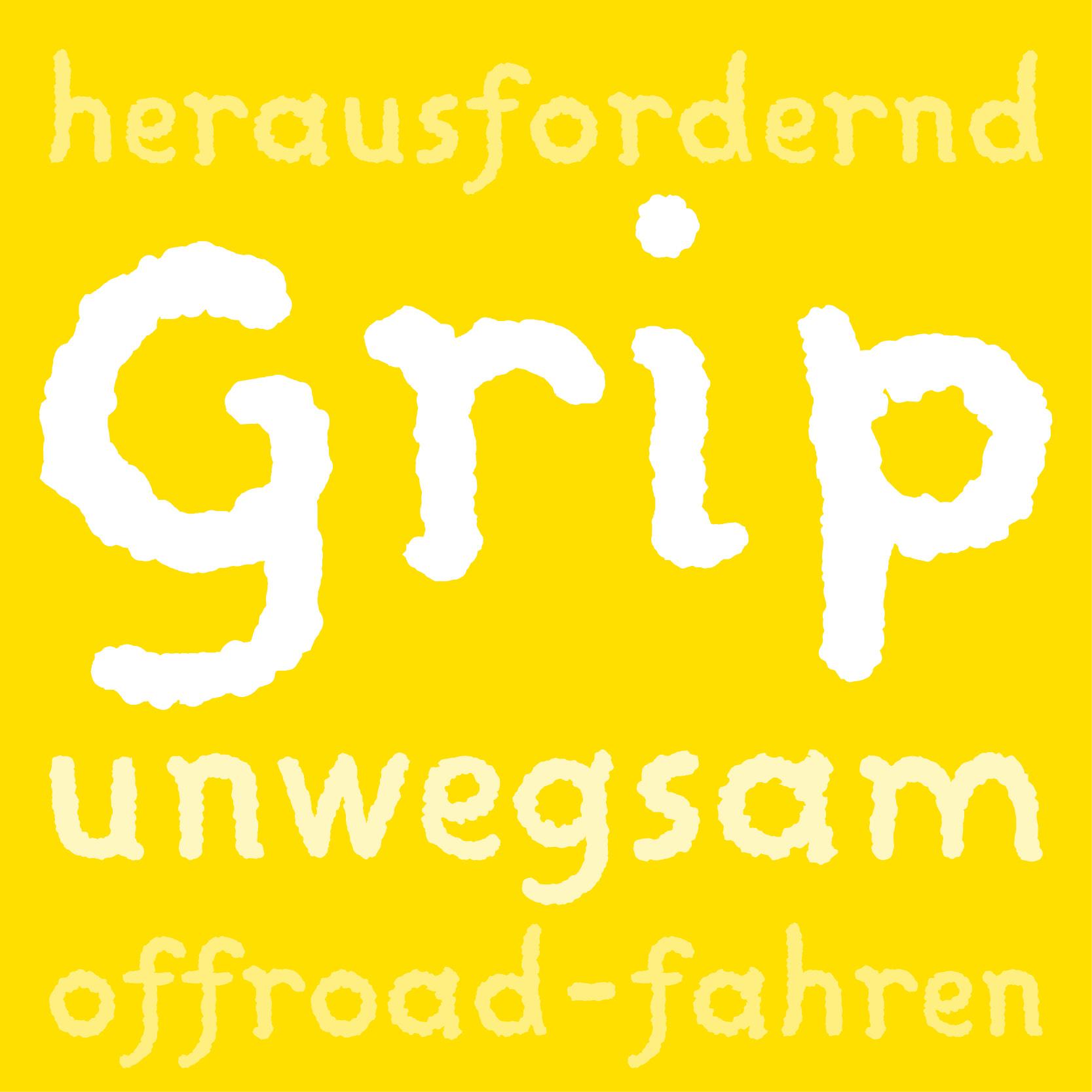 Headlineschrift Grip: Adventure
