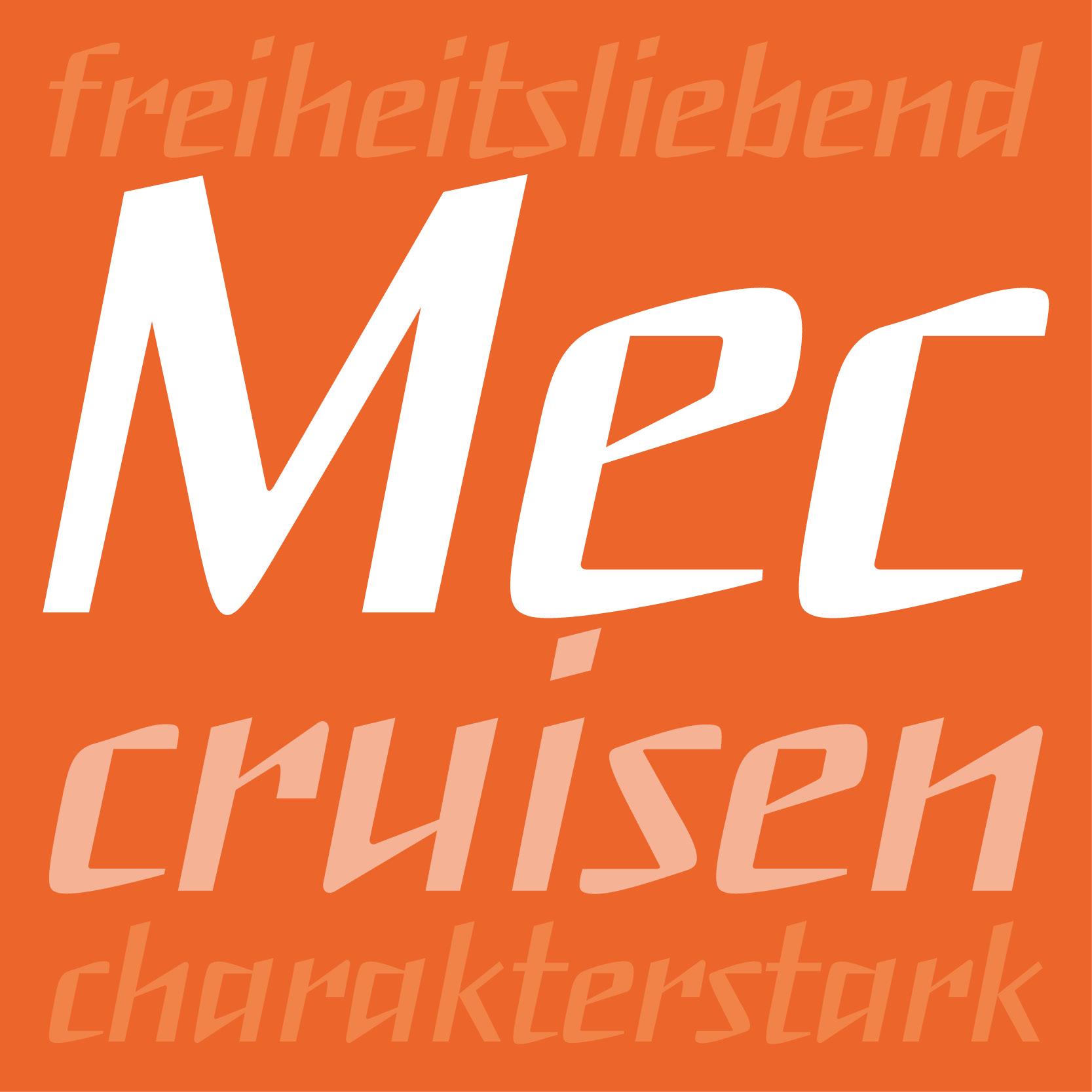 Headlineschrift Mec: Cruisen