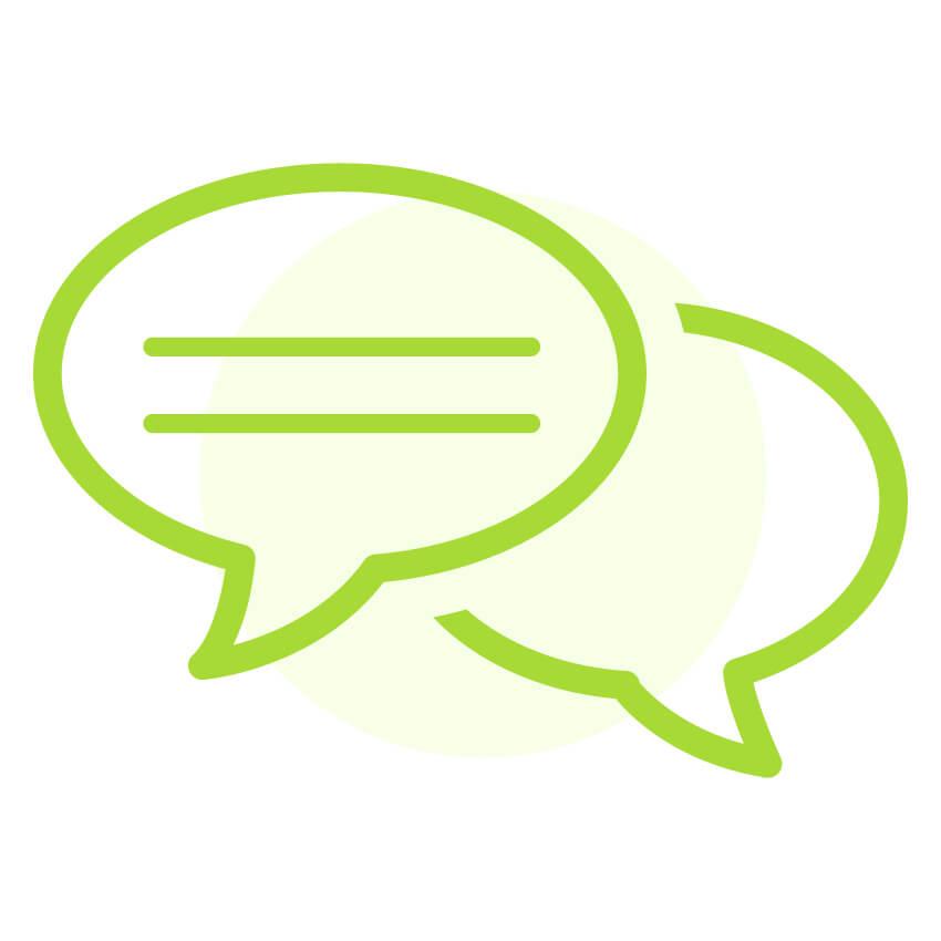 Icon Gespräch