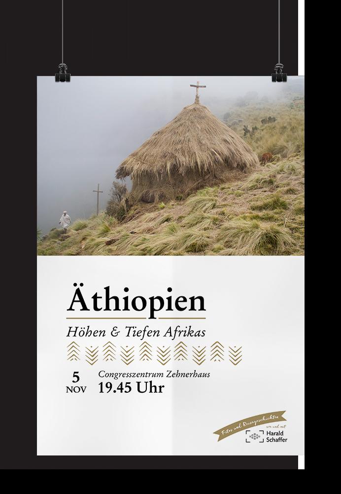 Harald Schaffer Vortragsplakat Äthiopien