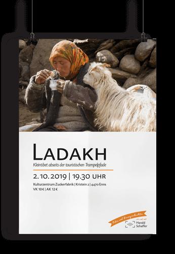 Harald Schaffer Vortragsplakat Ladakh