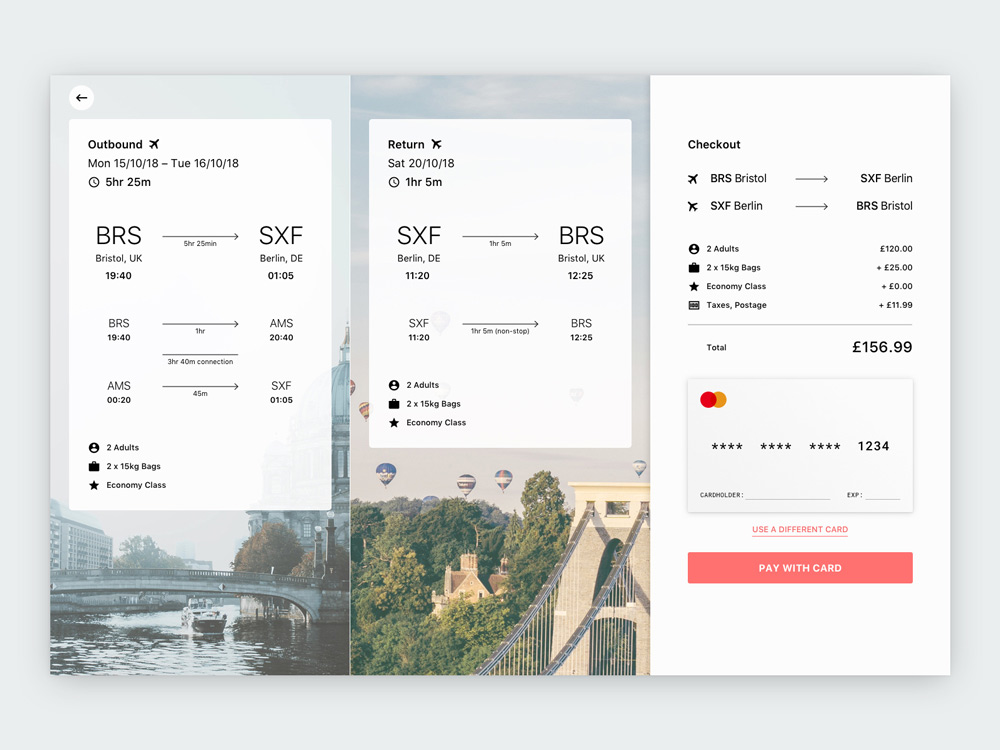 airline checkout booking