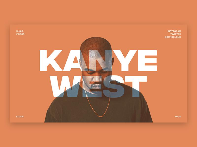 kanye west landing page