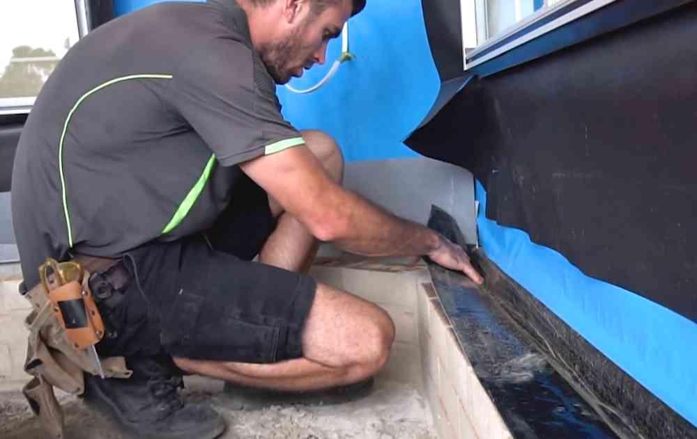 Pre construction termite barrier installation