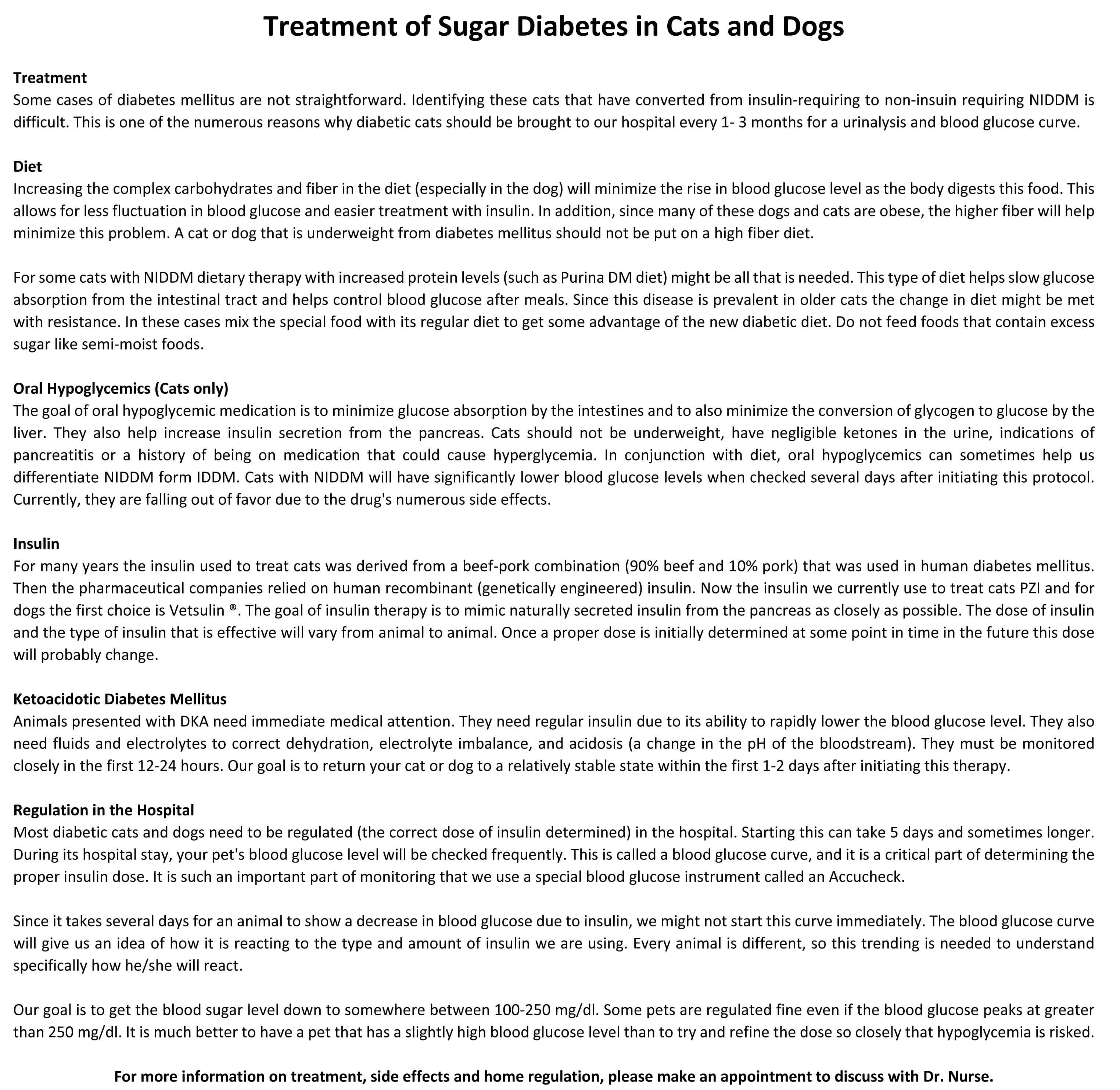 Diabetes Mellitus Treatment Options