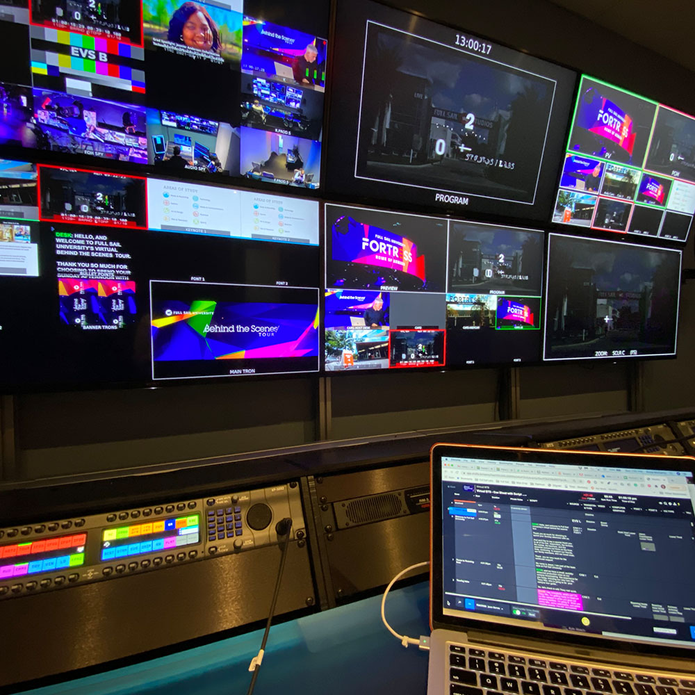 Image of a video control room