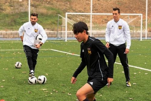 Madrid Football School players
