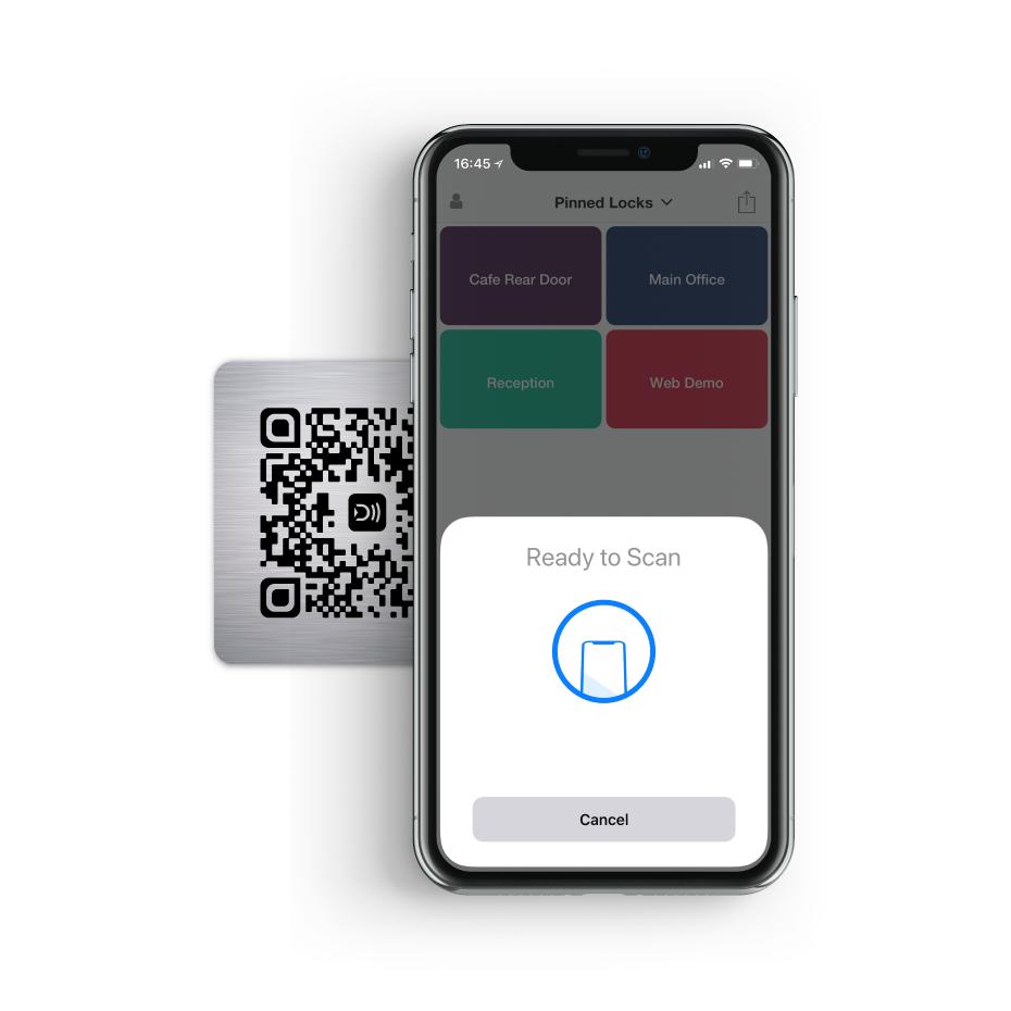 Image of Doordeck app with Tile