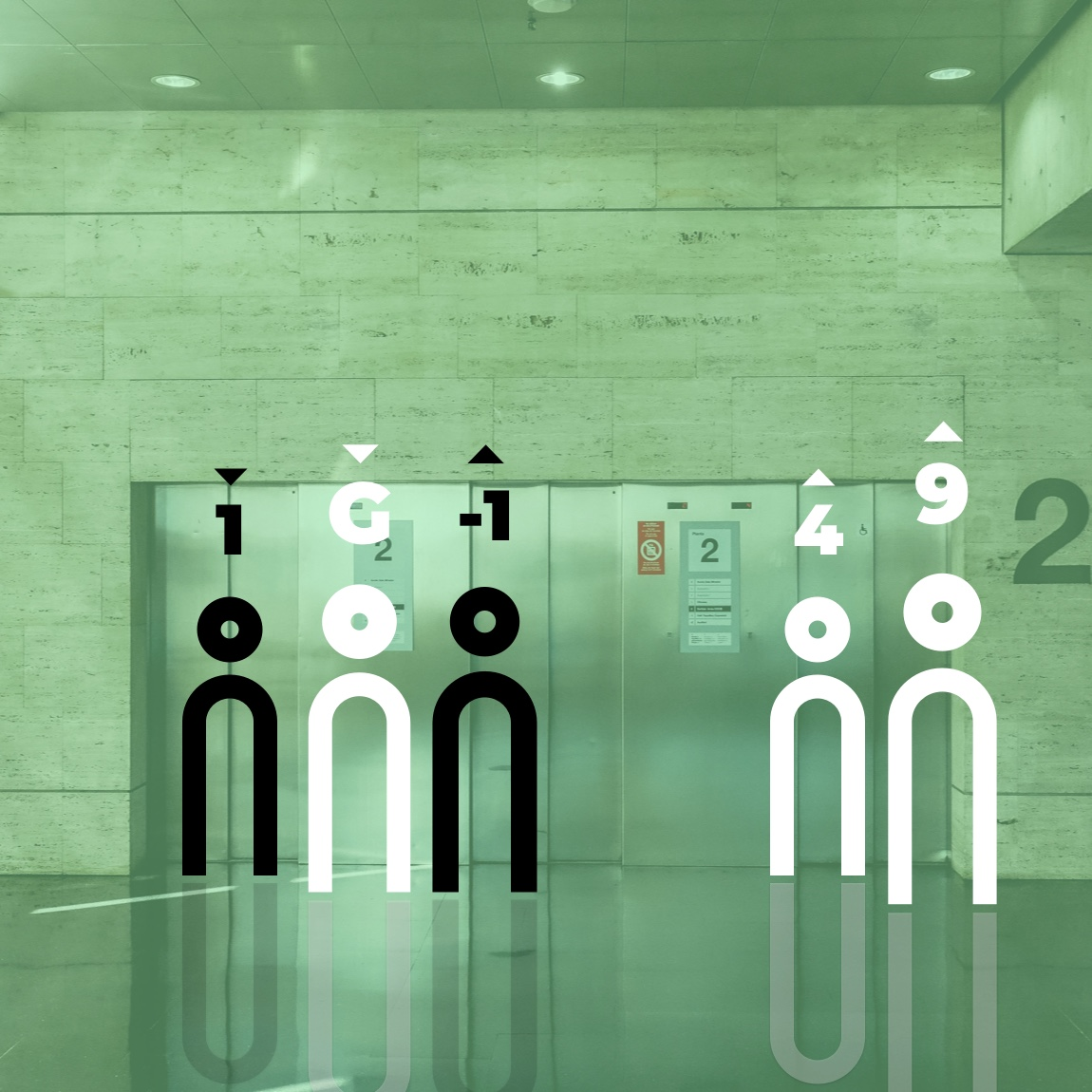Image of two elevator and users