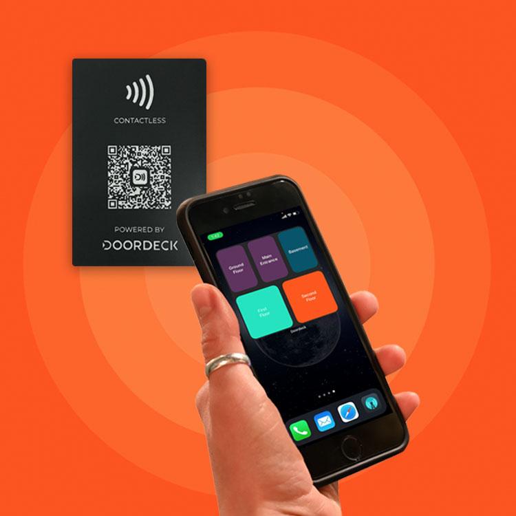 Doordeck tap the tile NFC