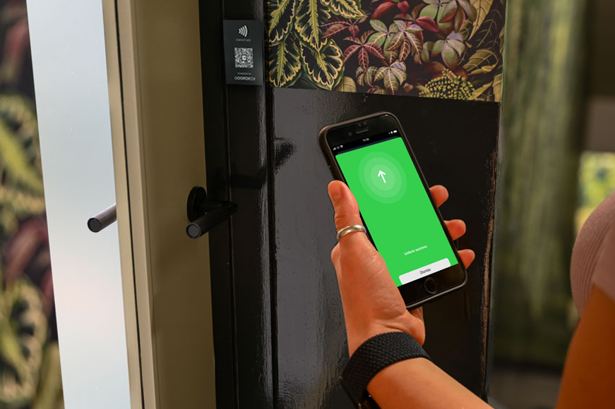 Unlock hotel using NFC and QR codes on your phone