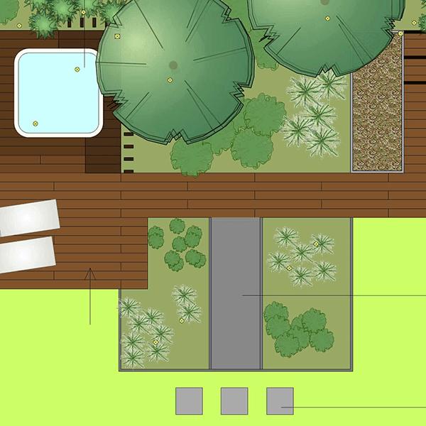 2D Tuinontwerp