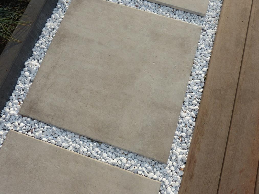 Keramische tegel in wit grind