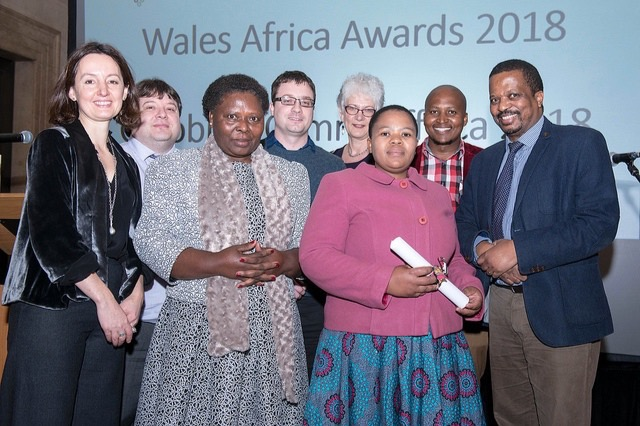 I am 2nd from the left in 2018 Wales for Africa Awards Ceremony
