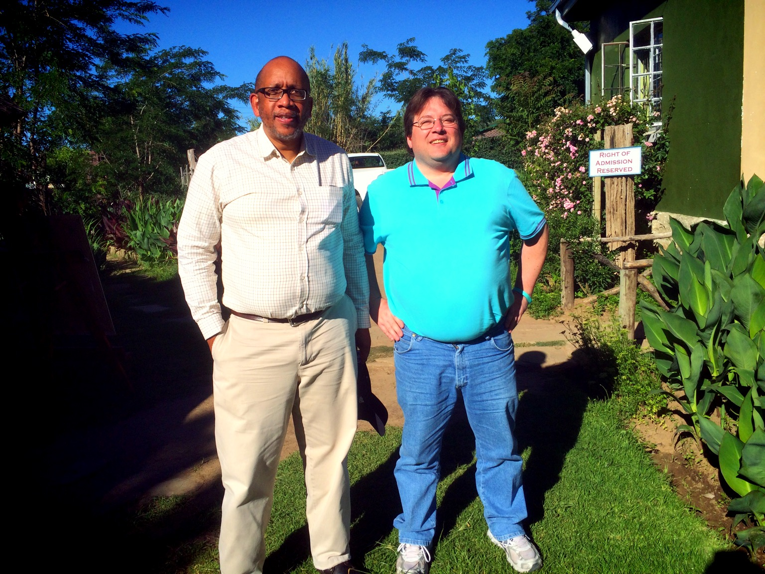 Prince Seeiso  of Lesotho and myself outside Piri-Piri