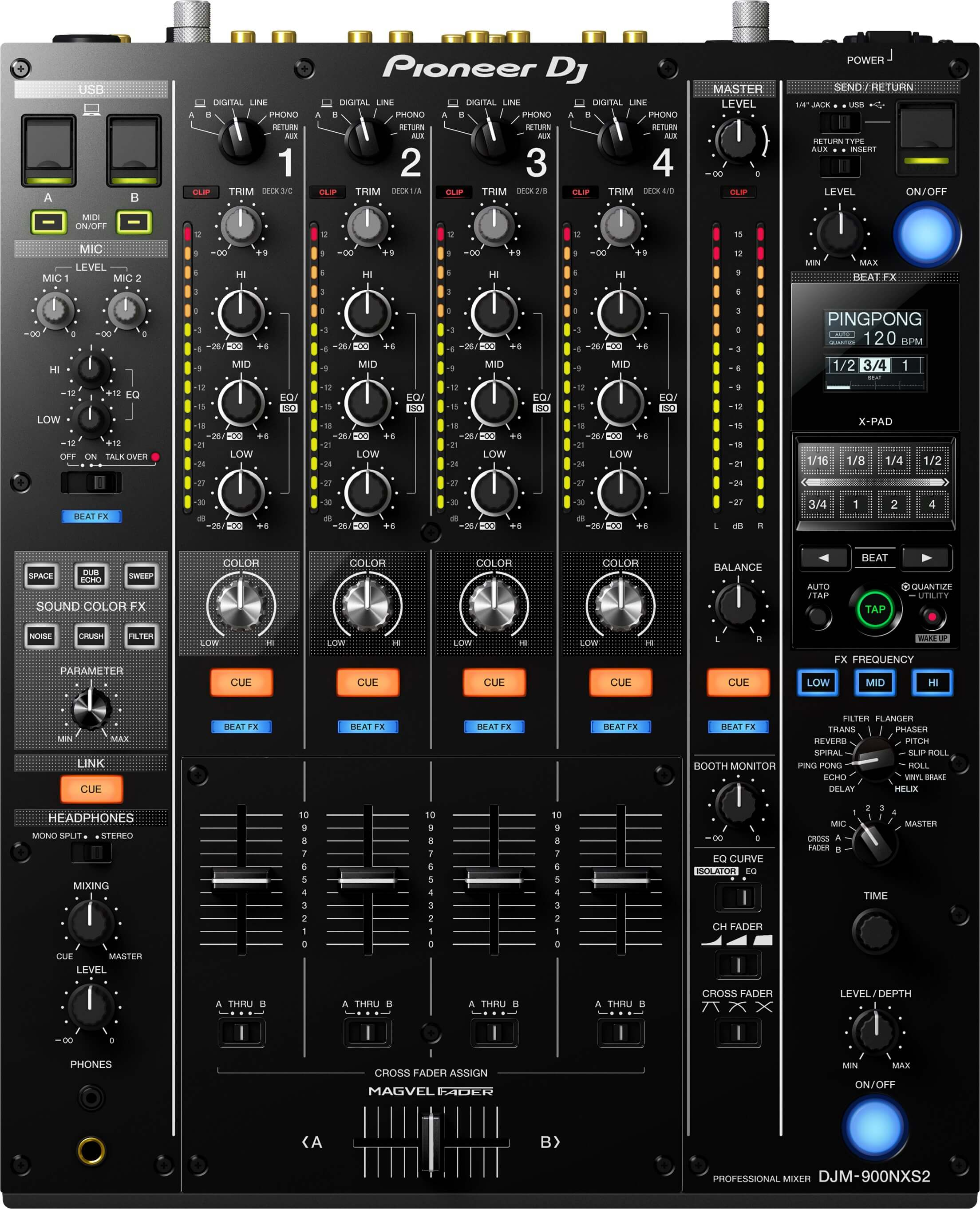 Pioneer DJM 900 Nexus 2 Four Channel DJ Mixer
