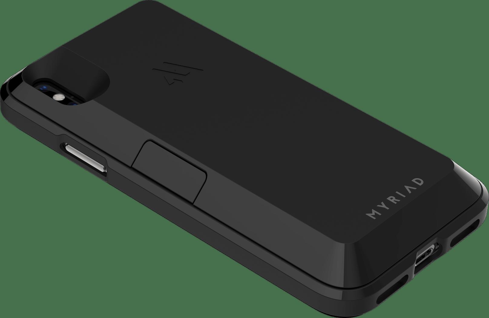 Quarter View of Myriad Case in Black