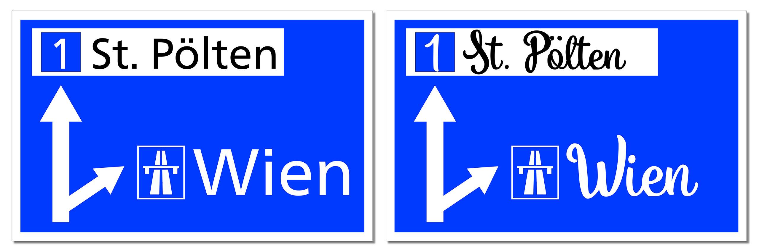 Vergleich Verkehrsschilder