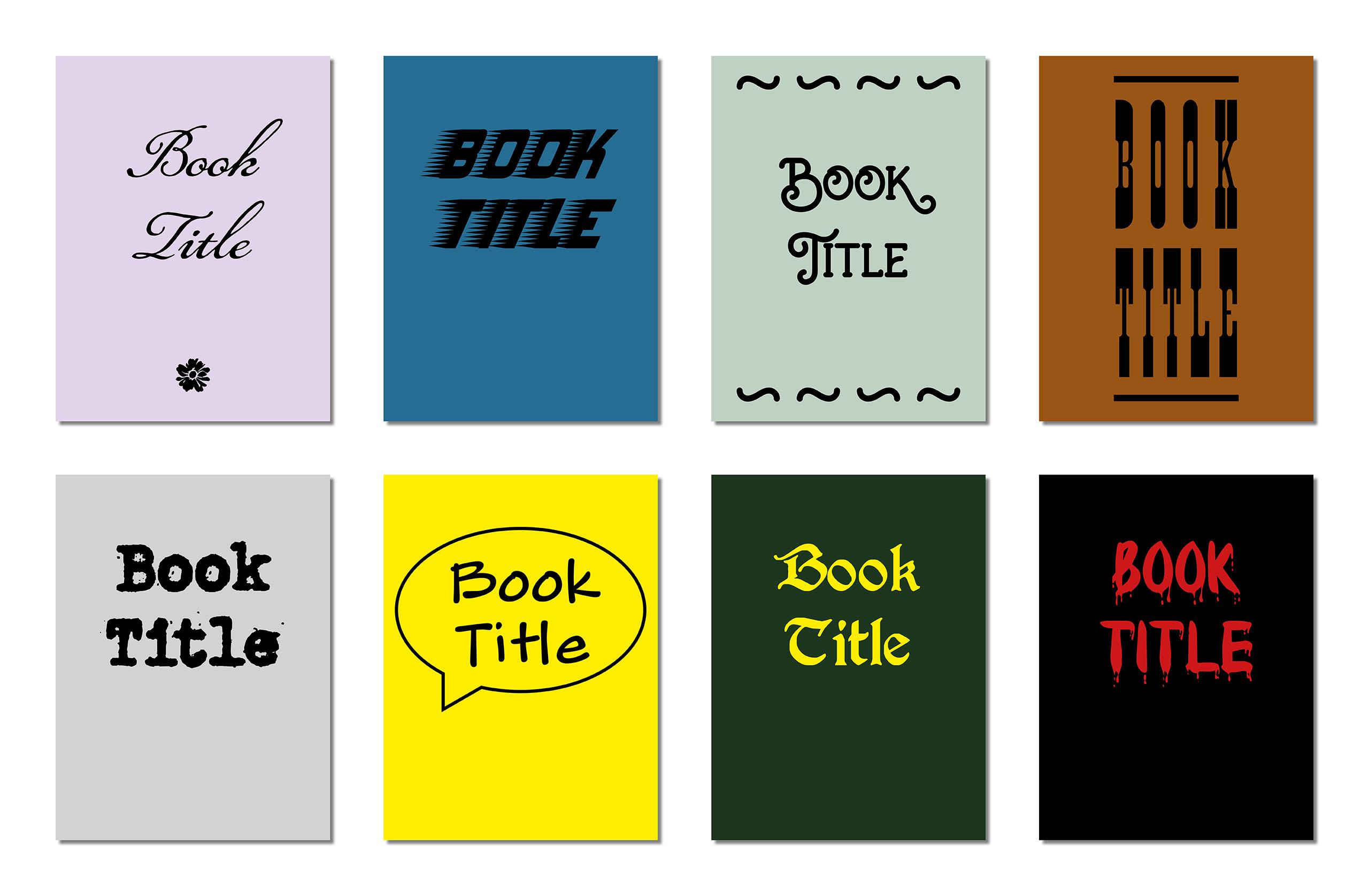 Acht Buch-Cover aus verschiedenen Genre