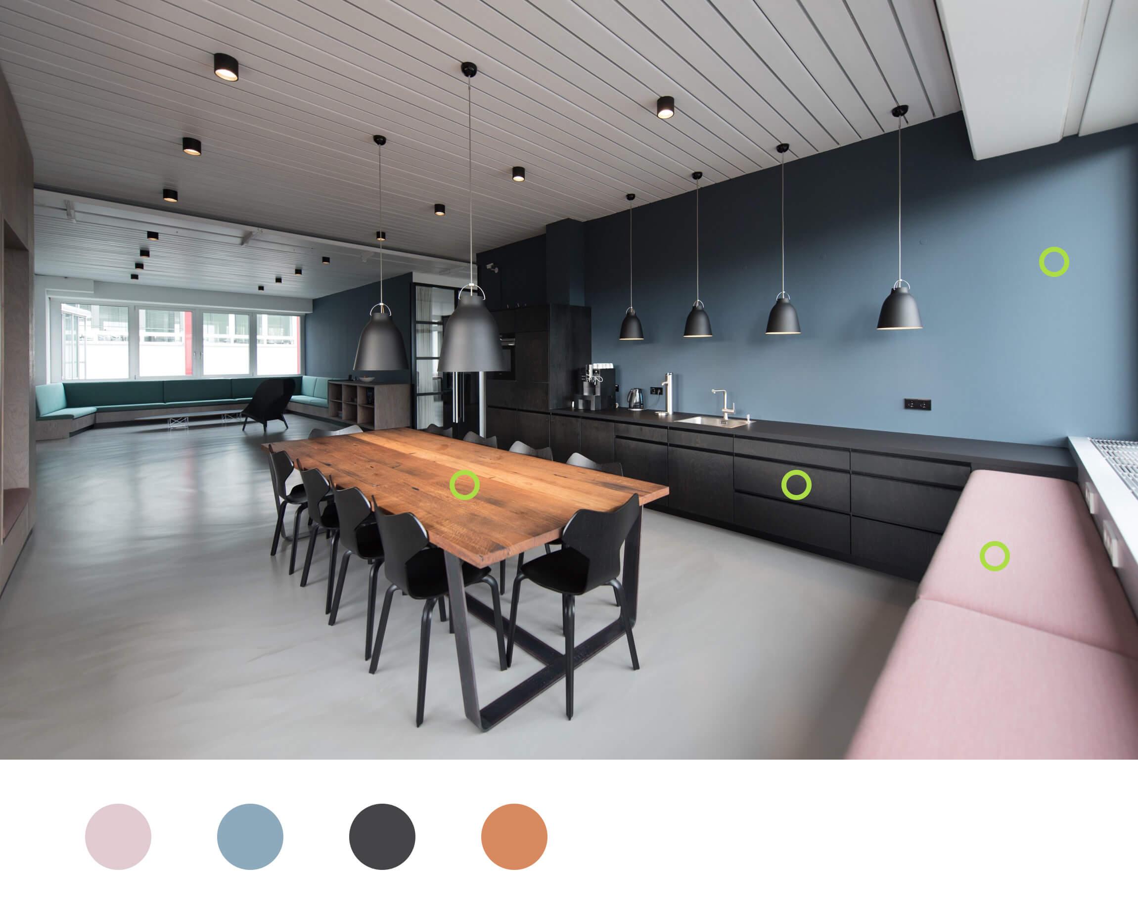 Interiordesign als Inspiration für die Farbwahl