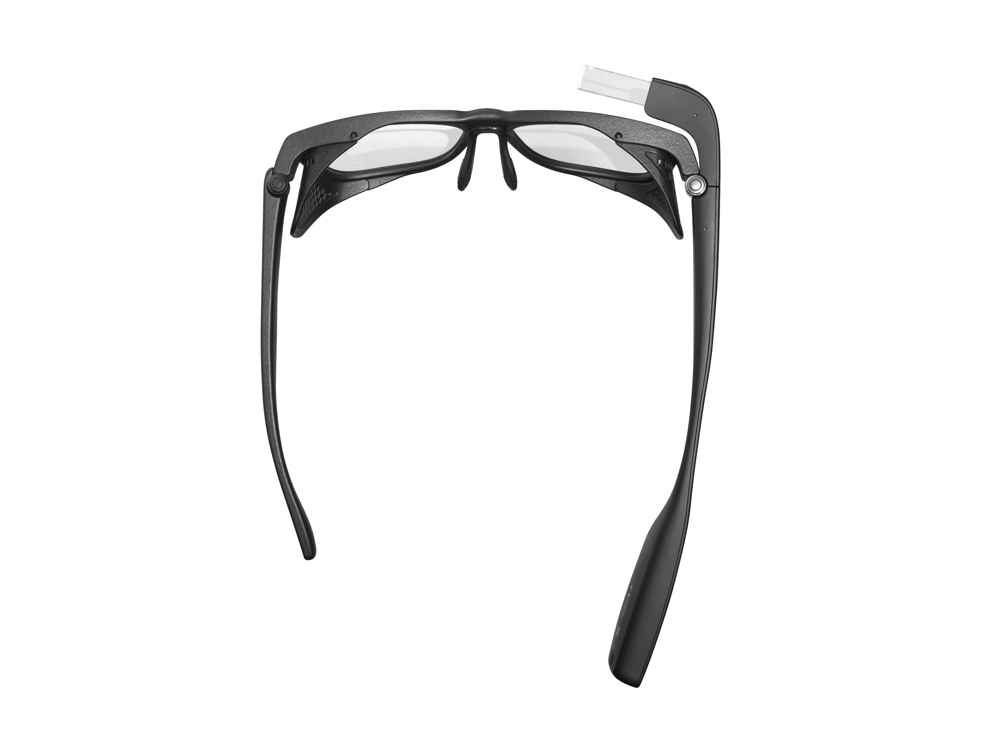 A top view of Envision Glasses with black Smith Optics Frame