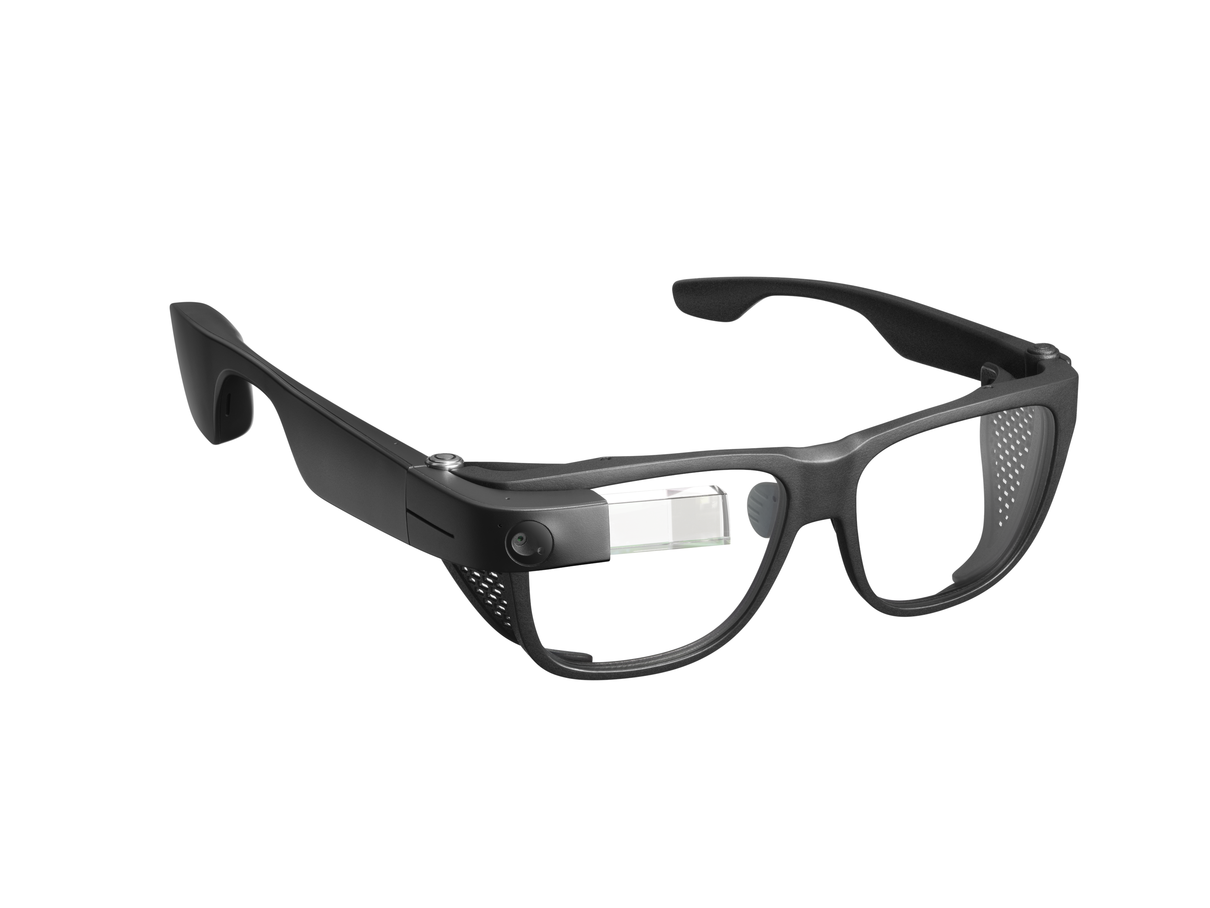 An angled view of Envision Glasses with black Smith Optics Frame