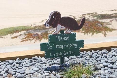 Please no Trespooping sign