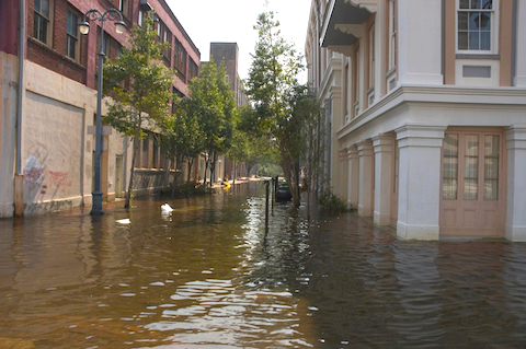 Downtown New Orleans Post Hurricane Katrina Flooding