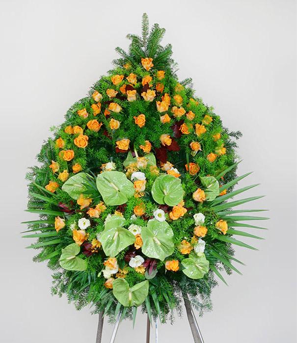 Wieniec z kwiatów mieszanych zielony